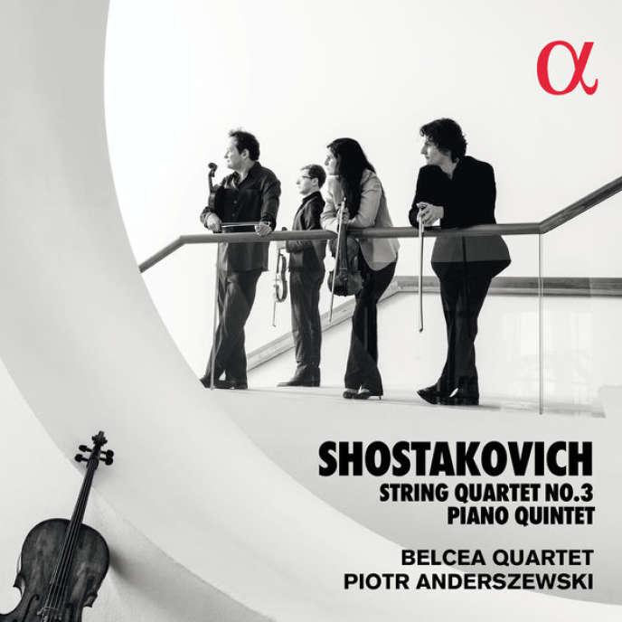 Pochette de l'album«Quintette pour piano. Quatuor à cordes n° 3», compositions de Dimitri Chostakovitch, parPiotr Anderszewski (piano) et leQuatuor Belcea.