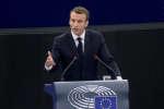 Emmanuel Macron,à Strasbourg, mardi 17 avril.