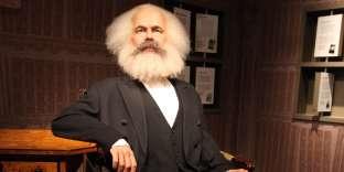 Karl Marx comme une figure de cire au musée Grévin à Madame Tussauds à Berlin.