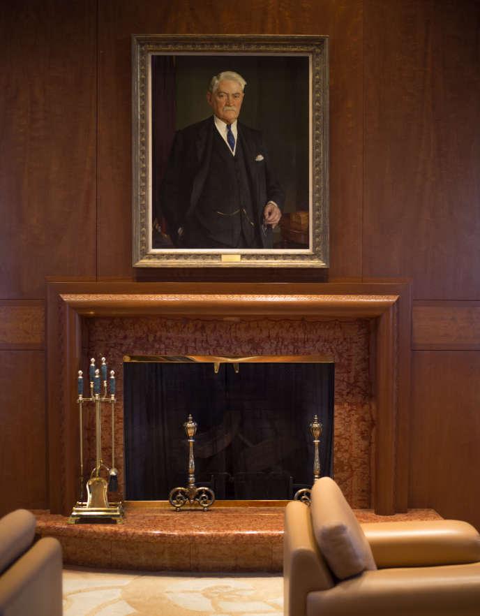 Portrait de John Francis Queeny, fondateur de Mosanto, au siège social de Mosanto à Creve Coeur, Missouri, le 26 février.