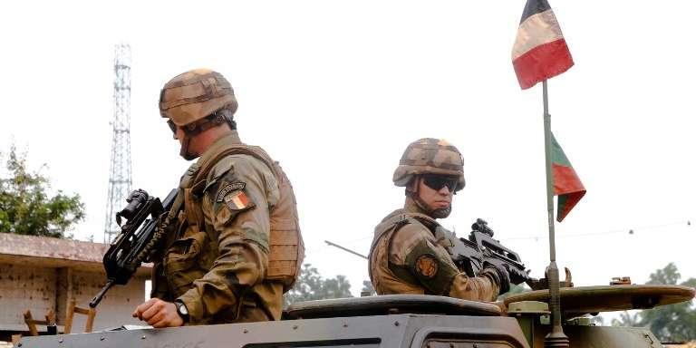 Des soldats français de l'opération« Sangaris» à Bangui, en Centrafrique, en septembre 2015.