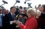 Emmanuel Macron, lors d'un déplacement à Saint-Dié-des-Vosges, le 18 avril.