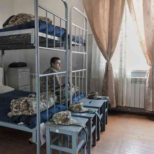 Le dortoir de l'académie militaire.