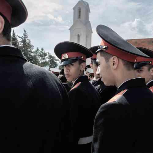 Parade militaire, à Stepanakert, capitale du Haut-Karabakh.