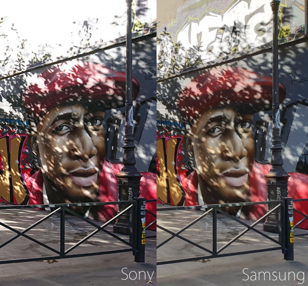 Le Sony a tendance à brûler les parties le plus lumineuses de l'image. Même s'il le fait de façon étonnamment élégante, les matières perdent leurs textures.