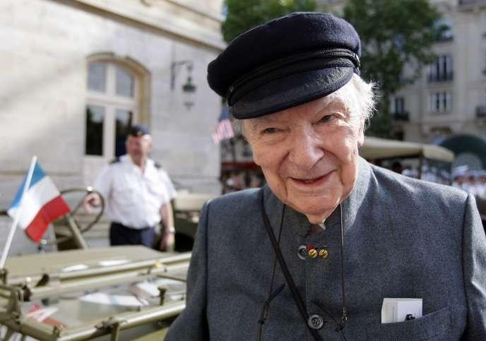 Franck Bauer, ancien résistant, en 2009.