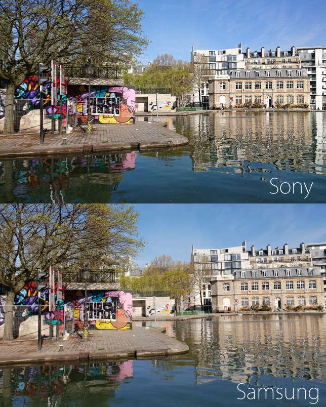 De jour, les images du Sony sont très proches de celles du Samsung S9. A condition de les regarder sur un petit écran.