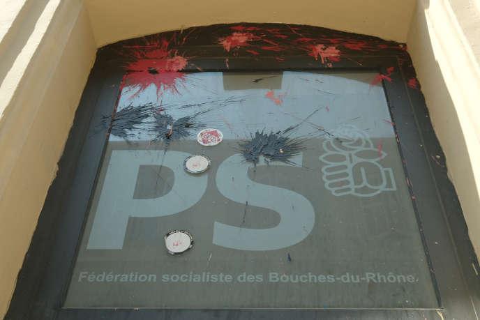 La fédération socialiste des Bouches du Rhône en juin. Le bâtiment est vendu pour 2,4 millions d'euros.