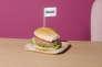 Présentation promotionnelle d'unburger sans viande au siège de la compagnie Impossible Foods, à Redwood City, en Californie, le 4 avril.