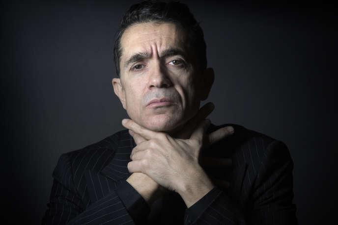 Le metteur en scène italien, Romeo Castellucci, au Théatre de l'Odéon, à Paris, le 24 novembre 2015.