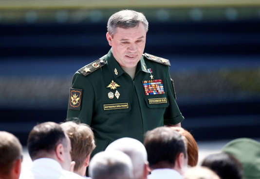 Valéri Guérassimov, le chef d'état-major de l'armée russe, le 29 juillet 2017, à Alabino (Russie)
