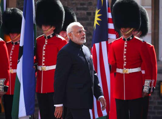 Le premier ministre indien, Narendra Modi, en visite officielle à Londres, jeudi 19 avril.