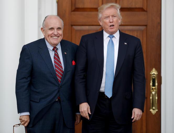 Rudy Giuliani et Donald Trump, à Bedminster, New Jersey, le 20 novembre 2016.