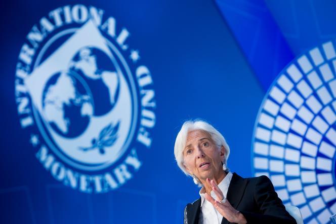 La directrice générale du Fonds monétaire international, Christine Lagarde, à Washington, le 18 avril.