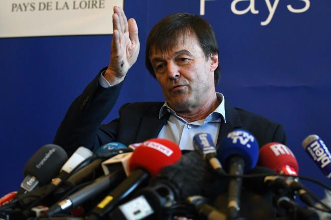 Le ministre de la transition écologique, Nicolas Hulot, à Nantes, le 18 avril.