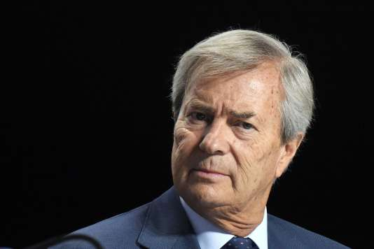 Vincent Bolloré, le 19 avril, à Paris.