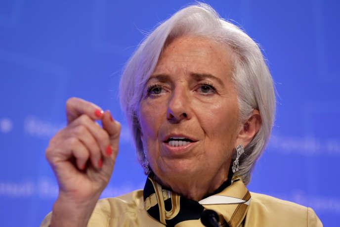 La directrice générale du FMI, Christine Lagarde, à Washington, le 19 avril.