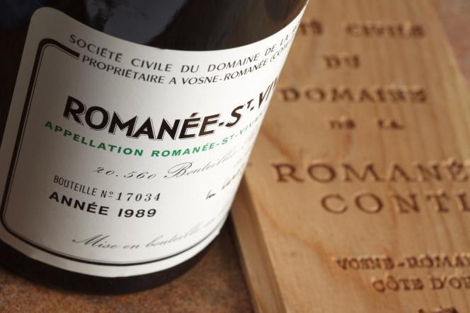Un Romanée-Saint-Vivant1989 du Domaine de la Romanée-Conti, Grand Cru de la Côte de Nuits.