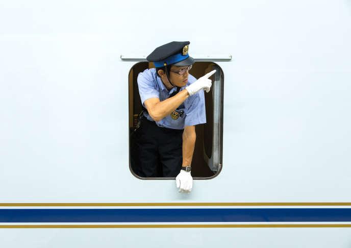 Le Shinkansen, à Himeji, dans le centre-ouest du Japon, en août2017.