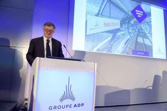 Augustin de Romanet, le PDG de Groupe ADP, à Paris, le 23 février.
