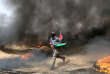 Ahmad Nabil Abou Aqeb a été tué à proximité d'un groupe incendiant des pneus près de la frontière avec Israël, ont rapporté des témoins.
