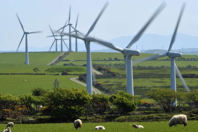 Un parc d'éoliennes à Anglesey, au Pays de Galles.