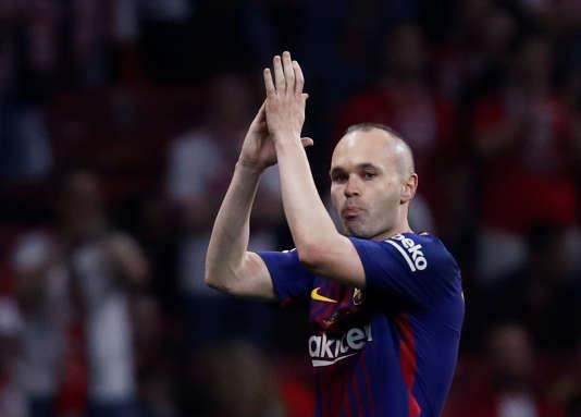 Andres Iniesta, ovationné par le public de Madrid, le 21 avril 2018 en finale de la Coupe du Roi.