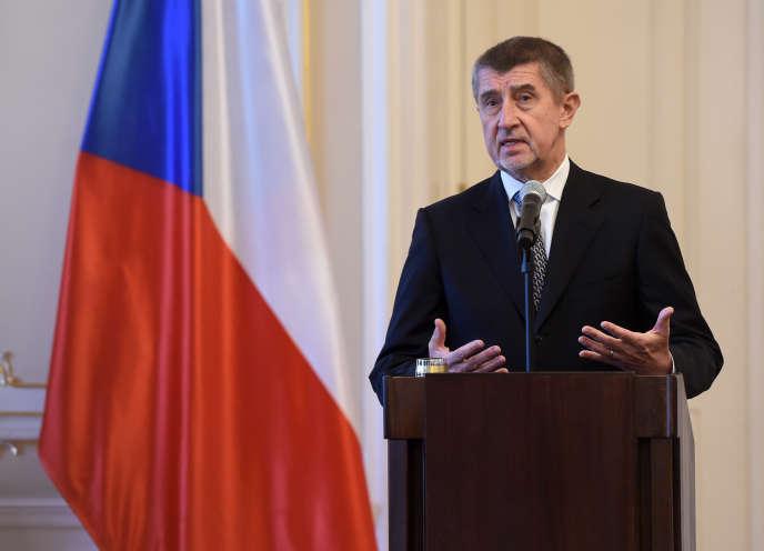 Le premier ministre tchèque Andrej Babis (ici à Prague, le 24 janvier) possède plusieurs quotidiens très prescripteurs (Mlada fronta DNES, Lidové noviny et Metro), un hebdomadaire, des sites Internet et la radio Impuls.