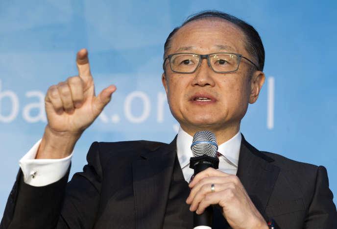 Le président de la Banque mondiale Jim Yong-kim, lors des réunions de printemps de la BM et du Fonds monétaire international à Washington.