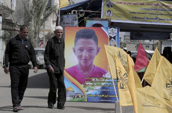 A Jabaliya, le 21 avril, près de l'endroit où Mohammed Ayoub, 14 ans, a été tué la veille.