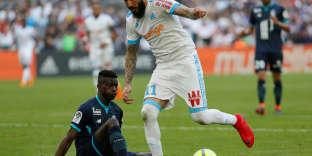 Kostas Mitroglou, auteur d'un doublé pour Marseille contre Lille, le 21 avril 2018.