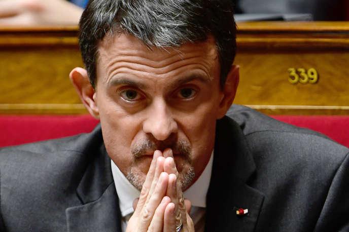 Manuel Valls, à l'Assemblée nationale, en novembre 2017.