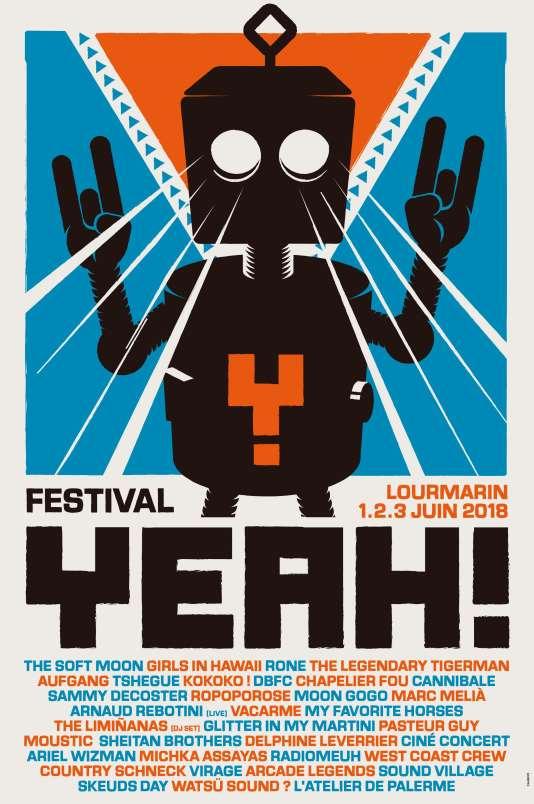 Affiche du festival Yeah! à Lourmarin.