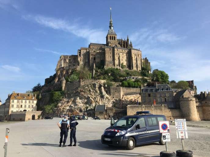 Le Mont-Saint-Michel a dû être évacué quelques heures, dimanche22 avril.