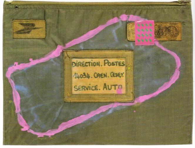 Gouache sur enveloppe toilée de la direction des Postes, timbre d'après l'œuvre de l'artiste, non oblitéré, format 40,5 × 30,5 cm, 3750euros.