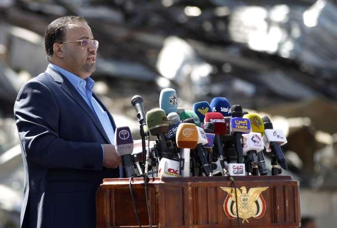 Saleh Al-Sammad, chef du bureau politique de la rébellion, le 26 mars, à Sanaa.