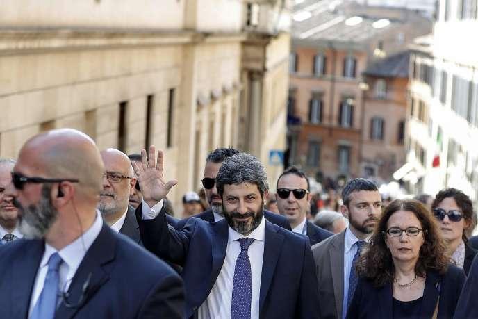 Roberto Fico, à Rome, le 23 avril.