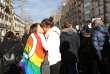 Manifestation pour la légalisation du mariage gay, le 27 janvier 2013, à Paris.