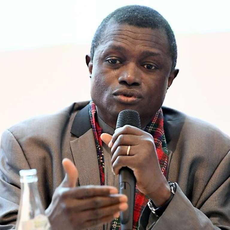 Le professeur Ogobara Doumbo, directeur du Malaria Research and Training Center de Bamako, à Veyrier-du-Lac, en France, en septembre 2017.