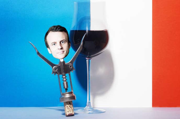 Emmanuel Macron a régulièrement banalisé la consommation du vin et multiplié les gestes en faveur de la filière viticole. Une posture inédite, qui met en émoi les acteurs de la santé.
