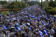 Des milliers de personnes se sont rassemblées à Managua contre le gouvernement, lundi 23 avril.