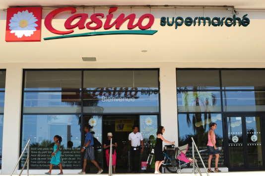 Un supermarché Casino, en juin 2013.