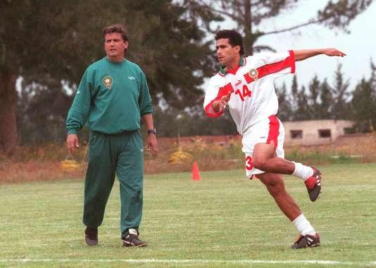 Avec le Maroc en stage de préparation pour la Coupe du monde1998.
