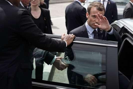 Emmanuel Macron en visite à Washington, le 23 avril.