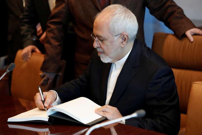 Le ministre iranien des affaires étrangères,Mohammad Javad Zarif, aux Nations unies, à New York, le 24 avril.