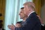 Emmanuel Macron et Donald Trump à la Maison Blanche, mardi 24 avril.