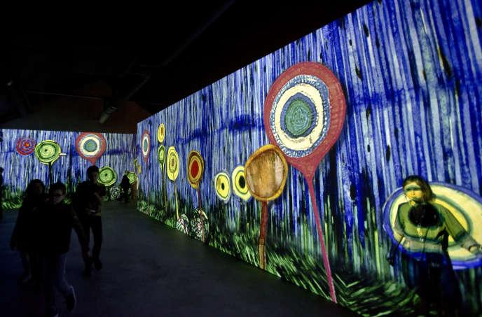 A l'exposition «Gustav Klimt», à l'Atelier des lumières, à Paris, en avril 2018.
