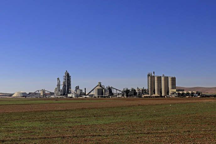 L'usine Lafarge à Jalabiya, en Syrie, le 19 février.