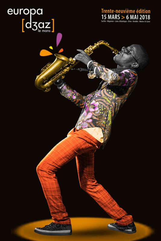 Affiche de la 39e édition du festival Europa Jazz, au Mans.