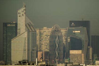 Le quartier de la Défense sous la pollution, le 14 octobre 2017.